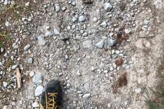 09 Lukášova noha v záběru do kopce